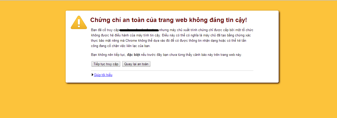 Loi tren Google Chrome