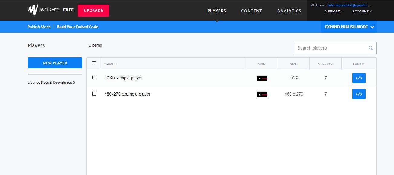 Cấu hình]Hướng dẫn đăng ký miễn phí License JWPlayer 7